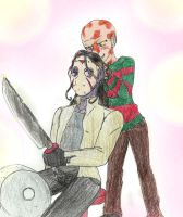 Freddy loves Jason with hair by Ynnep