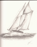 Sailboat Sketch by SonicBornAgain