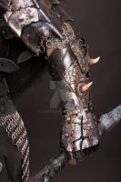 leather bracer orc by Lagueuse