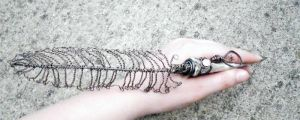 Steampunk Bone Quill pic2 by WattCouture