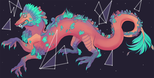 Cosmic pastel dragon by Spifmo