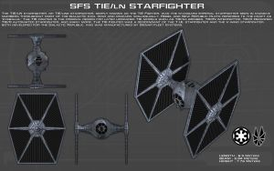 TIE/LN Starfighter ortho [New] by unusualsuspex