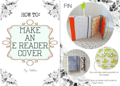 HOW TO MAKE AN E-READER COVER (no-sew) by beorange