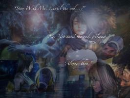 Yuna and Tidus Wallpaper by serennac