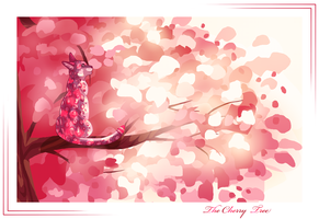 The cherry tree by Lastrekia