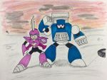 Glaive Woman and Shred Man by KirbyKing64
