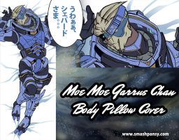 Moe Garrus Chan Body Pillow Cover by badwhitney