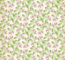 Purple flowers and leaves seamless background by FreeIconsdownload