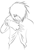 Emo Guy Lineart by CookiiMii