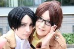 Levi + Hanji by Michi-Fox