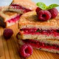 french toast with raspberries and basil by Pokakulka