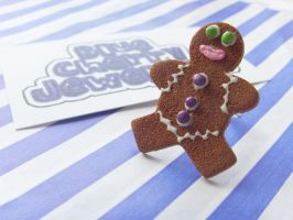 Gingerbread Man Ring 3 by tyney123