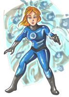 Sue Storm Invisible Woman by Radarai
