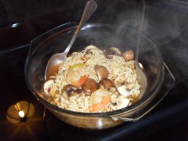 Mushroom Noodles by Gexon