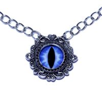 Blue Dragon Eye Necklace by CatherinetteRings