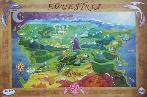My Little Pony map of Equestria by fanofetcetera