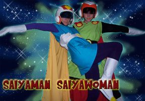 Saiyaman Pair by boweti