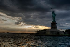Statue of Liberty at Dusk by PaSidor