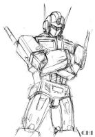 Optimus Prime Sketch by cwmodels