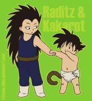 :DBZ: Raditz and Kakarot by kitsune-nilde