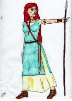 Queen Boudica, colored by Zandoz