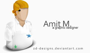 amit the graphic designer:) by Zd-designs