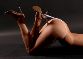 heels and thong by fineartimages
