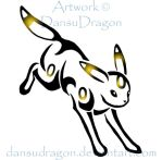 Tribal Umbreon Commission by DansuDragon