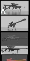 Sniper rifle concept KSR-29 WIP by DennisH2010