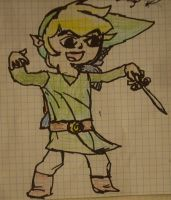 Quick Sharpie: Toon Link by Sephiroth121