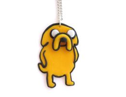 Adventure Time Jake the Dog Necklace by ClayMyDay