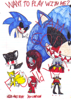 SONIC.EXE -color- by Sticklover4