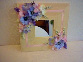 flower decorated mirror by HelenFlower