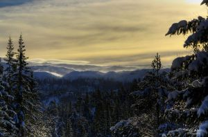 Distant Snow Storm by Kaeley