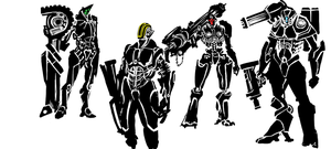mech designs by CrazyAsian1
