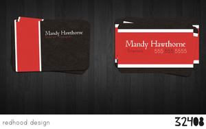 Mandy Hawthorne Business Card by redhood-design