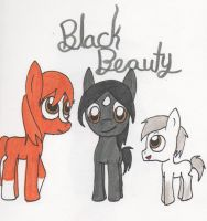 Black Beauty ponies by Piplup88908