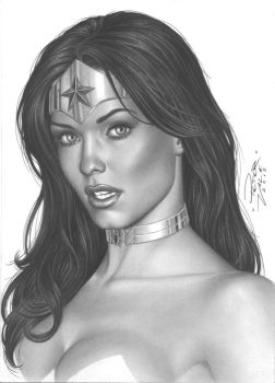 Wonder Woman Face by petervale