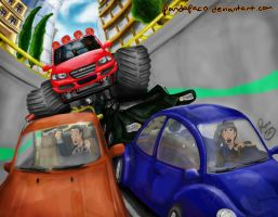 monster truck by pandapaco