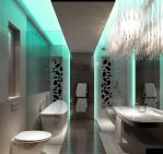 Green Light Bathroom by Cocolicous