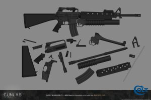 PSGP: M16A2 MODEL 711 ASSEMBLY DEMO by PSGunlabProject