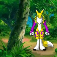 Renamon Trickin' in Color by iisaw