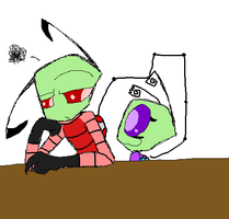 Zim and lil Zirta by S-ombre-StarIight