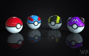 Pokedex Project Generation 1 Pokeballs by WilbertPierce