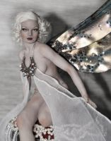 OOAK fae Jean Harlow portrait by fairiesndreams