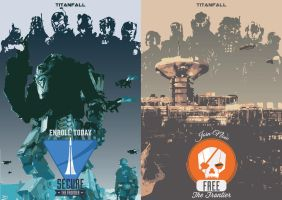 Titanfall posters by andrez9ysinco