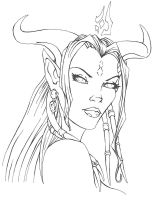 Draenie Portrait by Myspiderungoliant