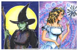 elphie and glinda by HanieMohd