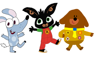 Boj, Bing and Duggee by JustinandDennnis