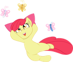 Apple Bloom and butterflies by JoeMasterPencil